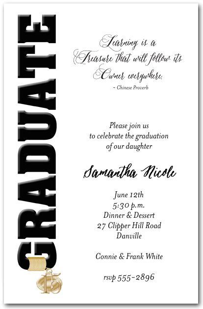 89 best Senior Invitation Ideas images on Pinterest Graduation - invitation wording ideas for dinner party