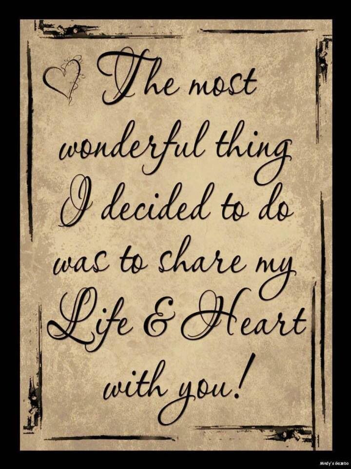 The most wonderful thing I decided to do is share my life