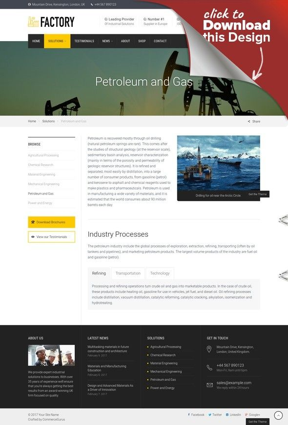 Factory Industrial Business Wordpress Theme Business Commercial Corporate Energy Engineering Business Wordpress Themes Fun Website Design Wordpress Theme