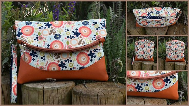 Free foldover clutch bag sewing pattern.  The Heidi bag from Swoon patterns.  Photos by Kejty Kelssi
