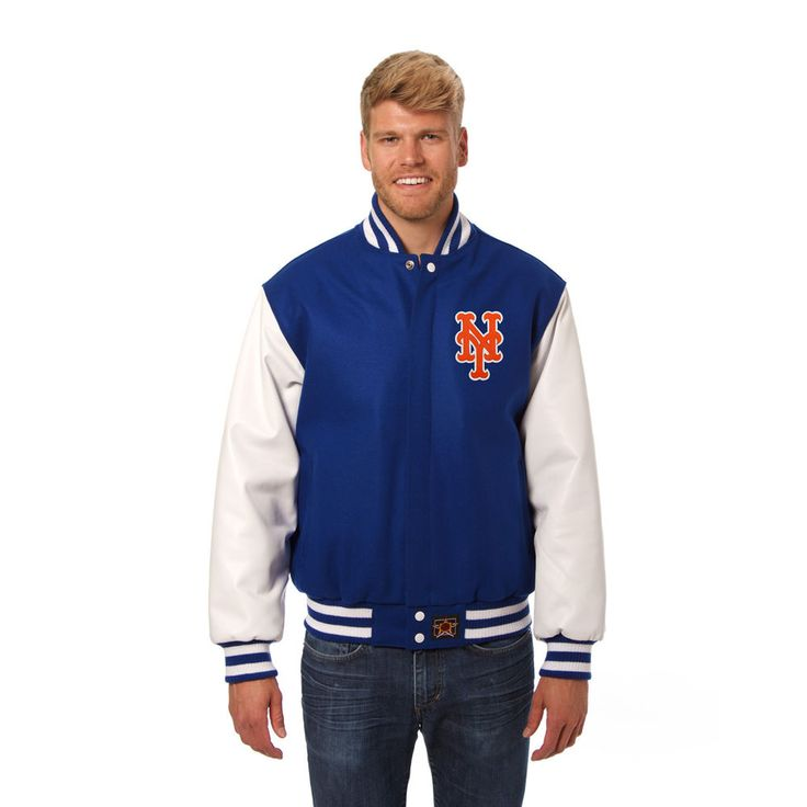 Men S New York Mets Jh Design Royal White Two Tone Wool