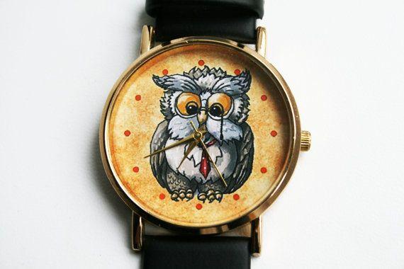 Owl watchWomen Watches Design watchesGift Idea by SovietCrimea