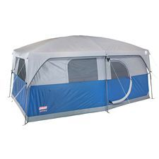 Coleman H&ton Cabin Tent features a 2 room design with a hinge door | Canadian Tire  sc 1 st  Pinterest : tent poles canadian tire - memphite.com