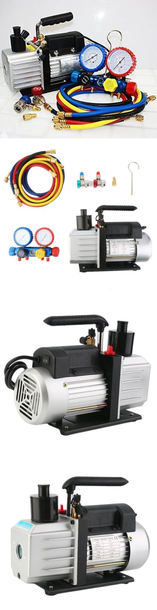 Other Consumer Electronic Lots: 4.8Cfm Vacuum Pump 4Valve Manifold Gauge R410a R134a R22 Hvac Ac Refrigerant Set -> BUY IT NOW ONLY: $179.55 on eBay!