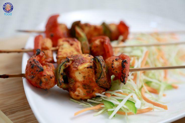Paneer Shashlik - Grilled Spicy Cottage Cheese #Recipe - #Vegetarian #Recipe By Ruchi Bharani.