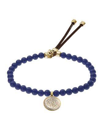 Michael Kors  Beaded Pave-Charm Bracelet, Navy. Simply love it!