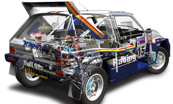 Rothmans Metro 6R4 Group B Rally Car