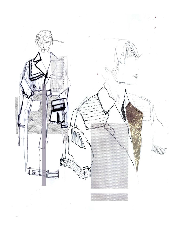 Fashion Sketchbook - fashion illustrations; fashion student portfolio // Lowri Edwards