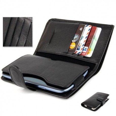Galaxy S3  -S4 - S3 Mini - S4 Mini - S5 uyumlu gerçek deriden imal edilmiş cüzdan ve telefon kılıfı.