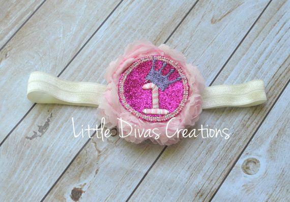 First Birthday Princess Headband by LittleDivasCreations on Etsy
