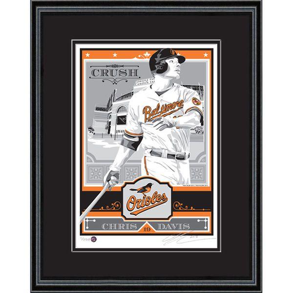 "Chris Davis Baltimore Orioles Sports Propaganda 18"" x 24"" Framed Player Serigraph - $129.99"