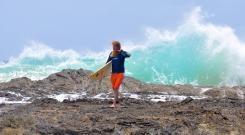 Xmas 2011 saw massive swells off Snapper Rocks