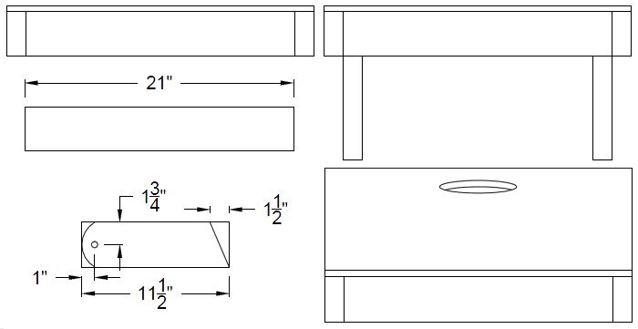 Cornhole Board Dimensions | CAD Images of ACA Regulation Cornhole Boards