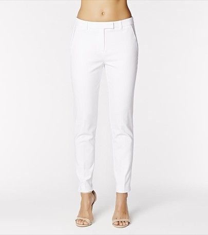 It's all about the white pants this summer! Dare a white on white look or pair them with a pop of color!