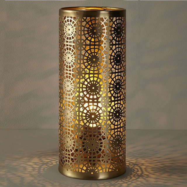 BuyJohn Lewis Eila Brass Cutwork Table Lamp Online at johnlewis.com
