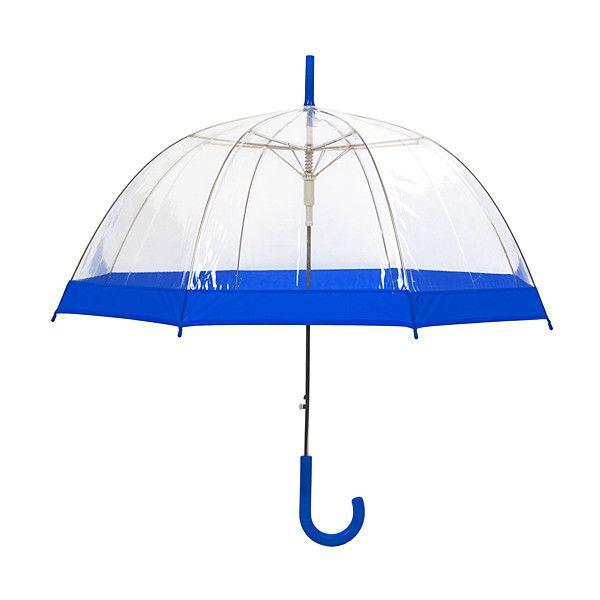 Susino Ext Transparent & Blue Automatic Umbrella ($20) ❤ liked on Polyvore featuring accessories, umbrellas, see through umbrella, blue umbrella and transparent umbrella