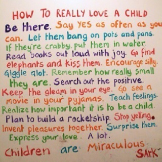 Ways to show your child you love them - good advice.