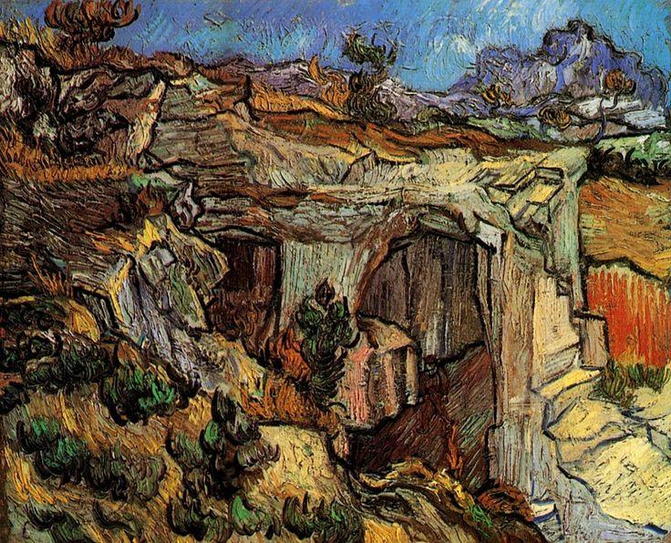 Vincent van Gogh . Quarry near Saint-Remy, 1889