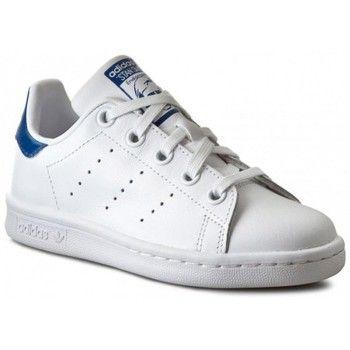 Baskets mode adidas Originals Chaussures Stan Smith Blanc/Bleu Cadet h16 - Blanc 54.90 €