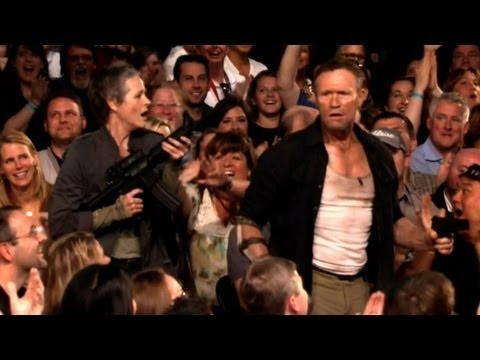 """""""The Walking Dead"""" Invades CONAN Atlanta - CONAN on TBS  YOU HAVE NO IDEA HOW BADLY I WANT TO BE THAT WOMAN HE TOOK"""