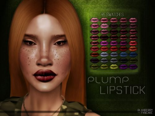 "○""Plump"" Lipstick- 45 swatches for The Sims 4"