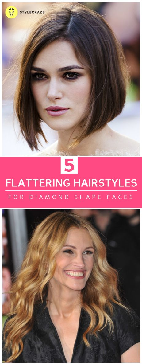 Picking the right hairstyle to suit your face is very important. Here are a few suggestions for hairstyles for diamond shaped faces.