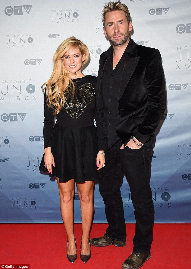Amicable exes: Avril Lavigne supported estranged husband Chad Kroeger at the Juno Awards in Calgary, Canada on Sunday