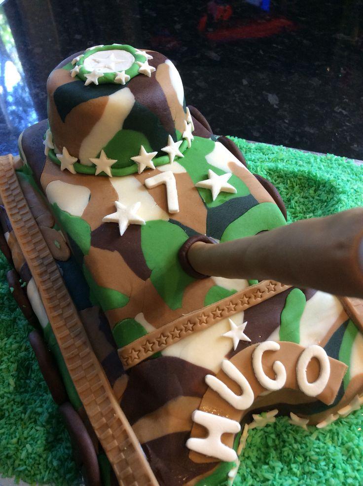 Army Camo Tank Cake