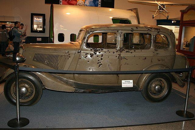bonnie and clyde death car on display at a museum in nevada trains planes automobiles etc. Black Bedroom Furniture Sets. Home Design Ideas