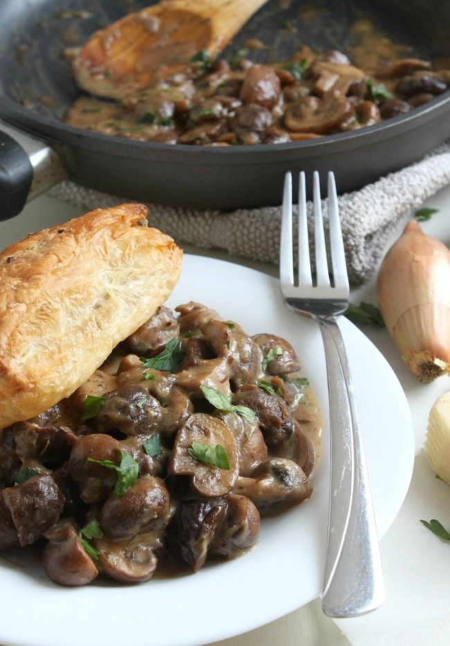 A vegetarian version of the classic French dish, this mushroom bourguignon is perfectly rich, and goes great with mashed potato!