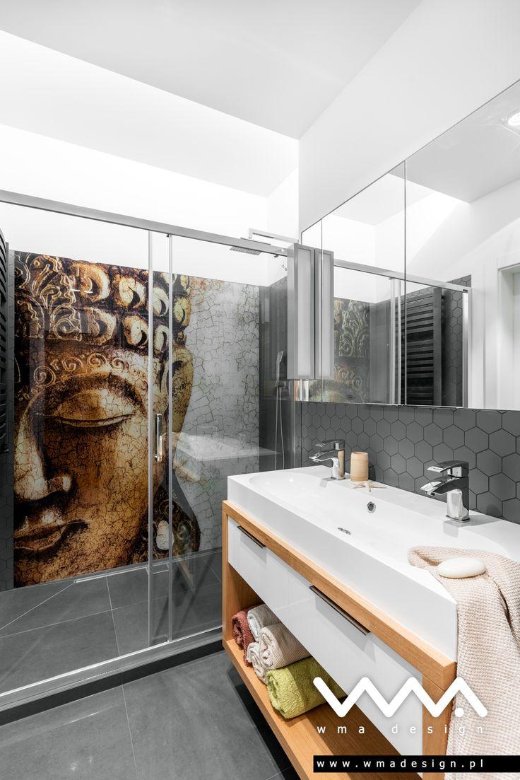 bathroom with Buddha   łazienka z Buddą   www.wmadesign.pl