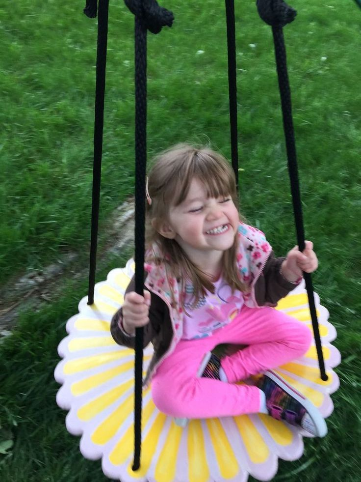 Not finding anything I liked as far as tree swings go, I decided to create and build my own for my grand daughter. It was a huge hit when I shared it on my Face…