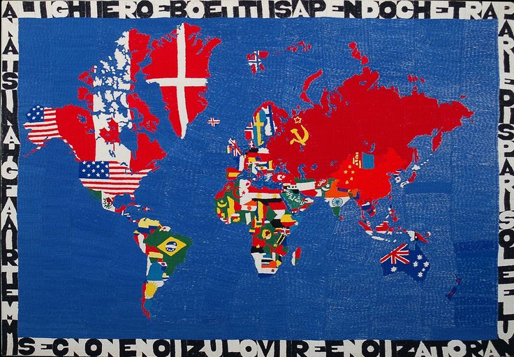 alighiero boetti art -  Mapa del mundo (Map of the World), 1989-94