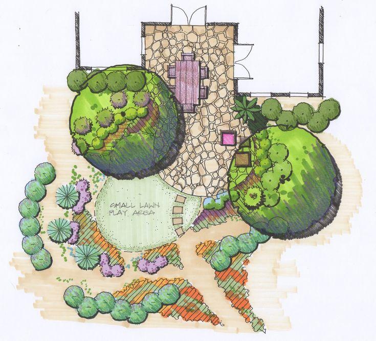 Best Tradgardsritning Images On Pinterest Landscape Design
