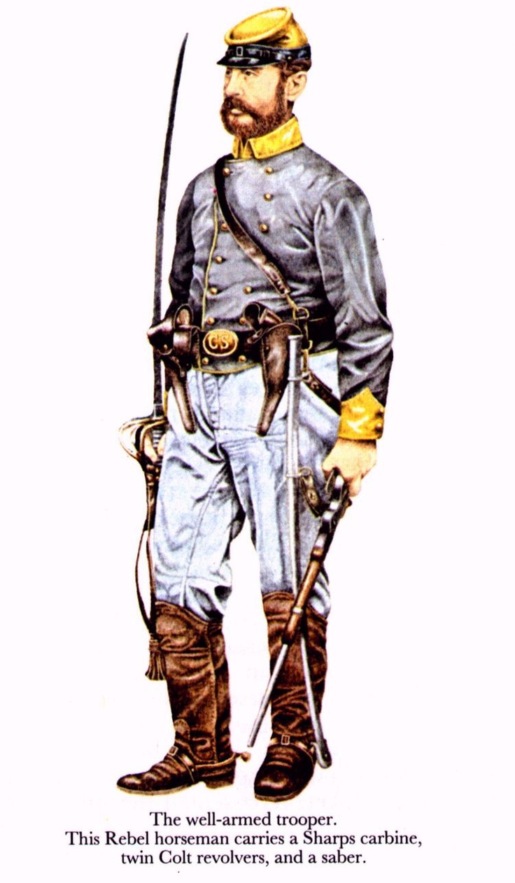 ACW Confederate: Confederate Soldier, (artist unknown). Help eliminate poor pinning! If you know the artist and can supply a link, please update this pin. Thank you!
