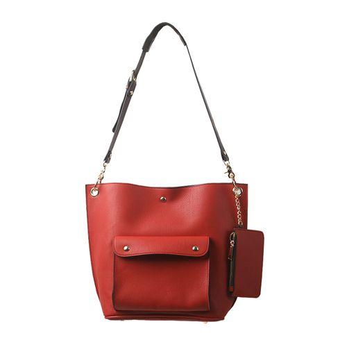 Faux Leather Shoulder Bag Purse-Decorated Handbags 7 Colors at doozybag.com