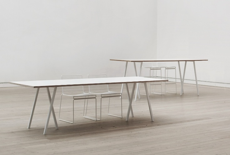 HAY Table // Loop Stand Table, White frame/White laminate L:160 cm 4.199,00 DKK (ca 570eur)