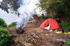Camping near Danau Gunung Tujuh, Kerinci Seblat National Park, Sumatra. Image by Mark Eveleigh
