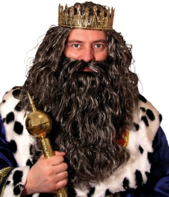 Be the king of all costumes. All beards and wigs are reusable