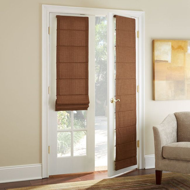 Shutters are great for French doors, but they're not everyone's style. Here are four alternatives to the traditional shutter.
