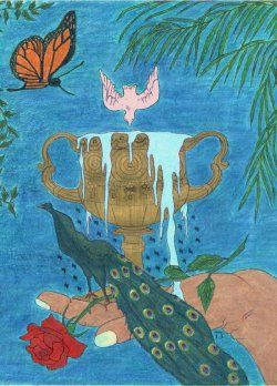 Golden Cup Cafe by Bonnie Moss #tarotdayincanada