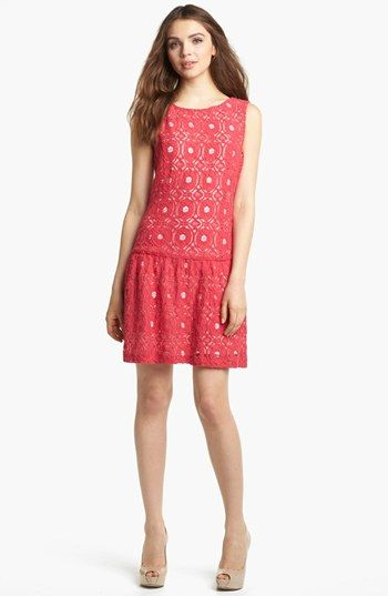 Kensie Lace Drop Waist Dress available at #Nordstrom ...
