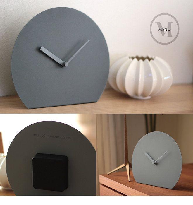 ●menuSteelStandClockスチールスタンドクロックmenuメニューNORM置き時計/時計/シンプル/クロック/スチール【RCP】