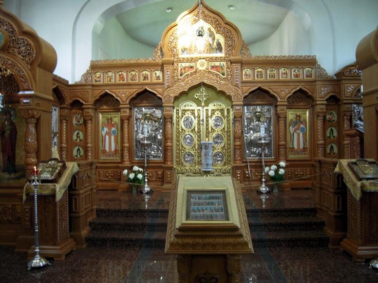Inside the New Valamo Monastery church in Heinävesi