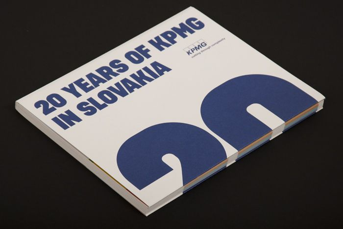 KPMG annual report is using Dezen Typeface as main, typographic visual element /// Design by Ondrej Gavalda