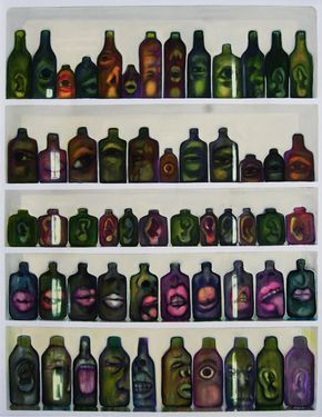 """The Bottles"" #art #artists #painting #expretion #body #urban #face"