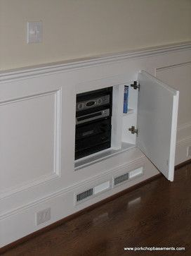 houzz built in television | Media Room built in tv cabinet Design Ideas, Pictures, Remodel and ...