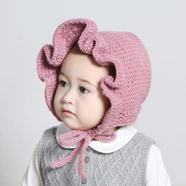 [해피프린스] 플로리 보넷 / 아기모자,신생아모자,아기보넷,신생아보넷,레이스보넷,아기니트모자,아기뜨개모자,아기겨울모자 : 행복한왕자