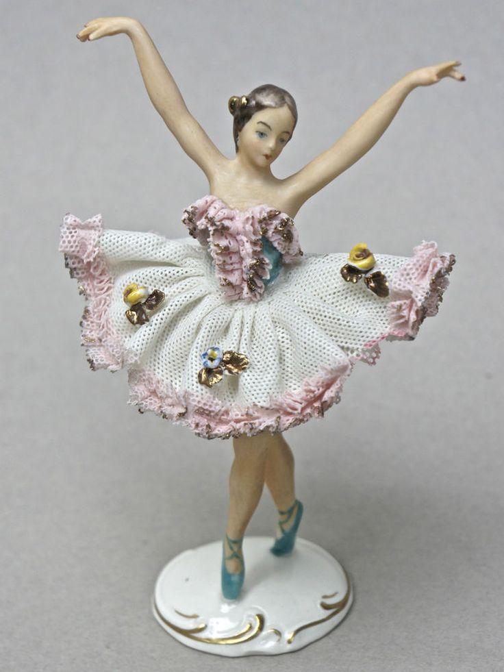 kleine ballerina t nzerin auf spitze bisquit porzellan gemarkt alka dresden dresden. Black Bedroom Furniture Sets. Home Design Ideas