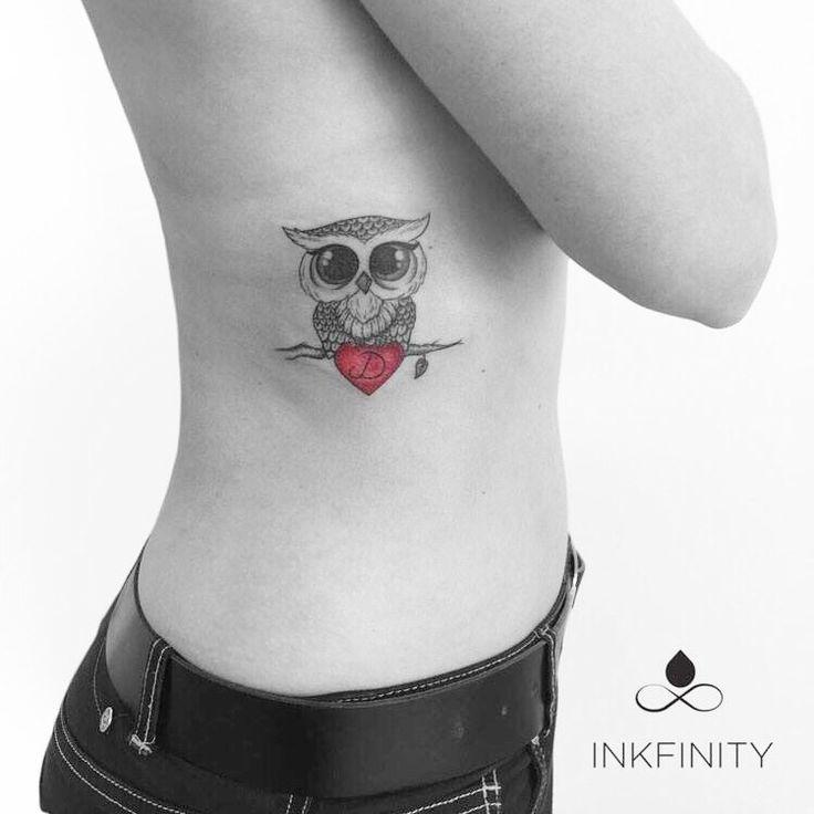 Cute Owl tattoo  @INKFINITY                                                                                                                                                                                 More
